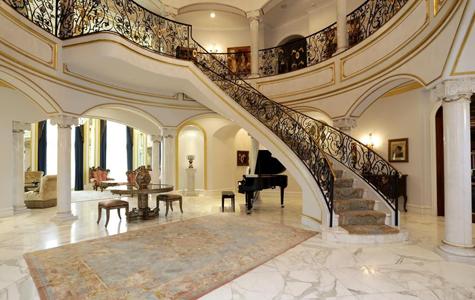 دکوراسیون لابی کلاسیک ساختمان ممتاز سعادت آباد – دکوراسیون داخلی